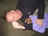 Daddy and his girl napping