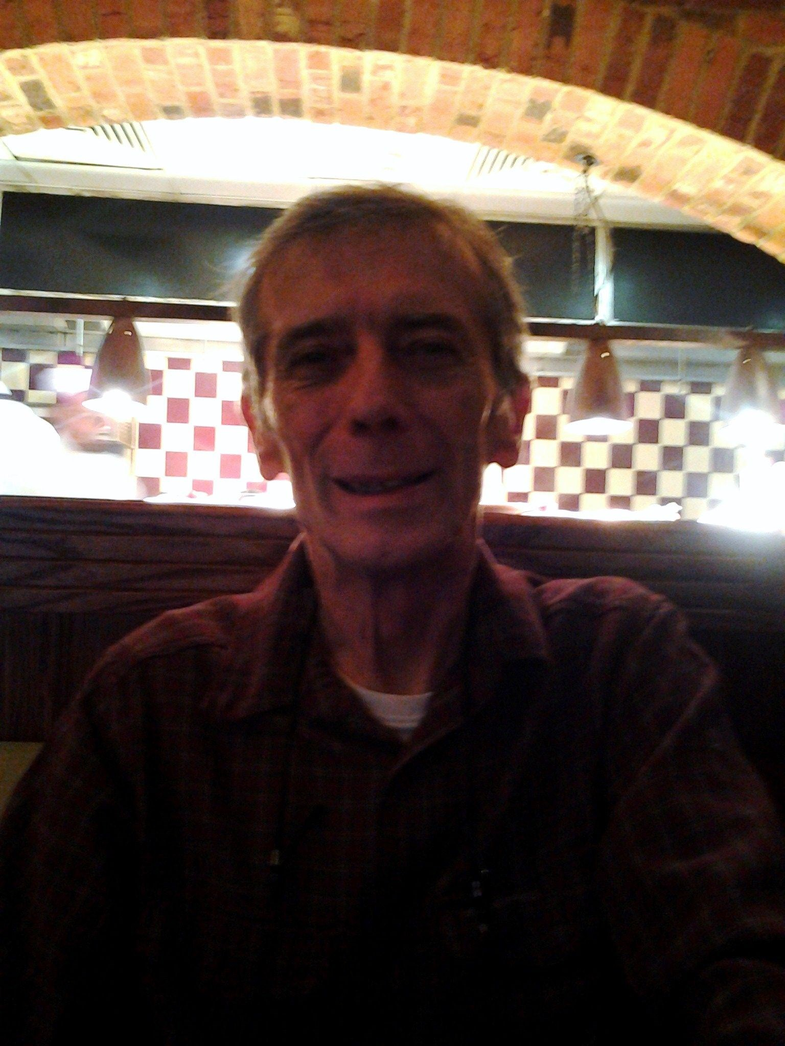 Tony at Frankie and Benny's, Cribbs Causeway, before we watched The film Ted.