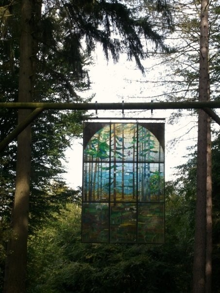 The stained glass window at Beechenhurst that you liked so much.
