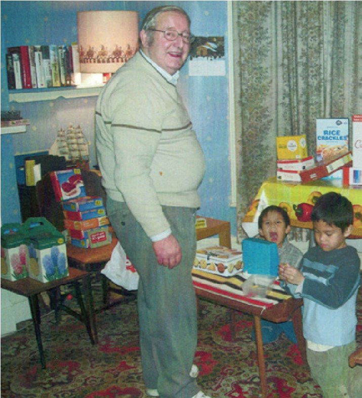 Peter with children whom he loved so much