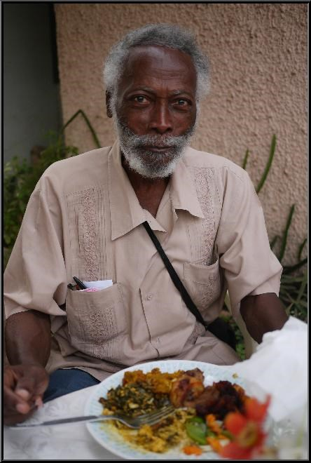Daddy Eating at a Family Gathering.  Photo by R. Amissah