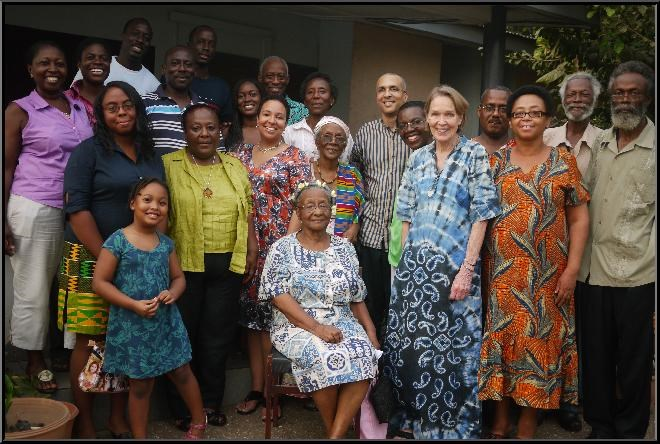 Daddy (second from right) at an Amissah Family Gathering.   Photo by R. Amissah