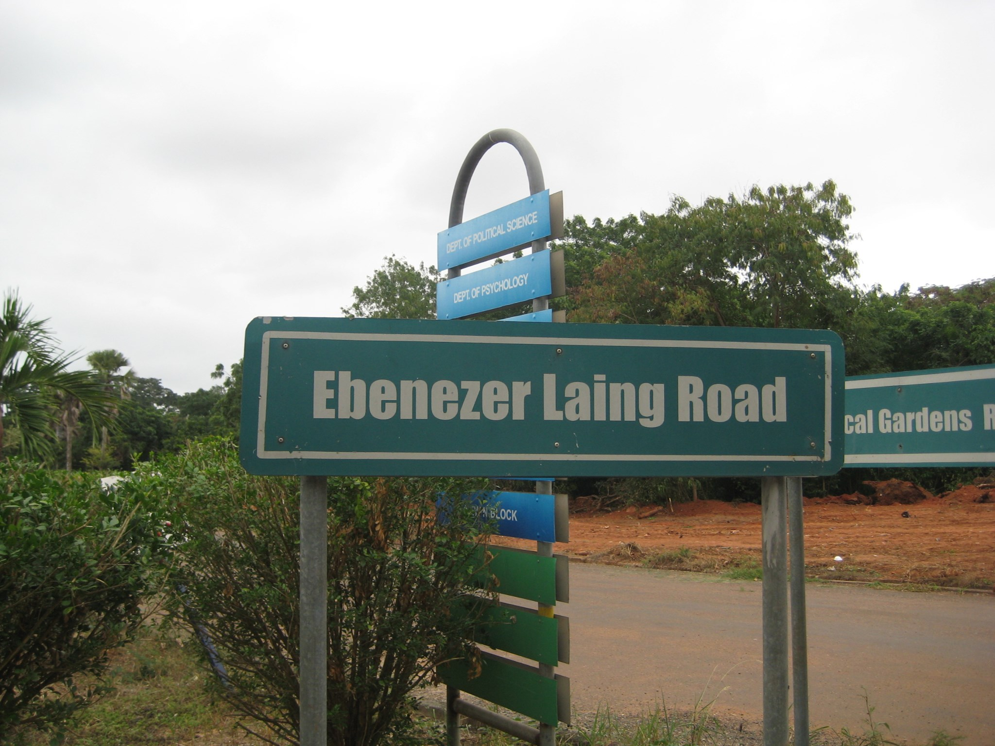 The road between Botany and N2 was named after him.  Photo by Hilda Laing.