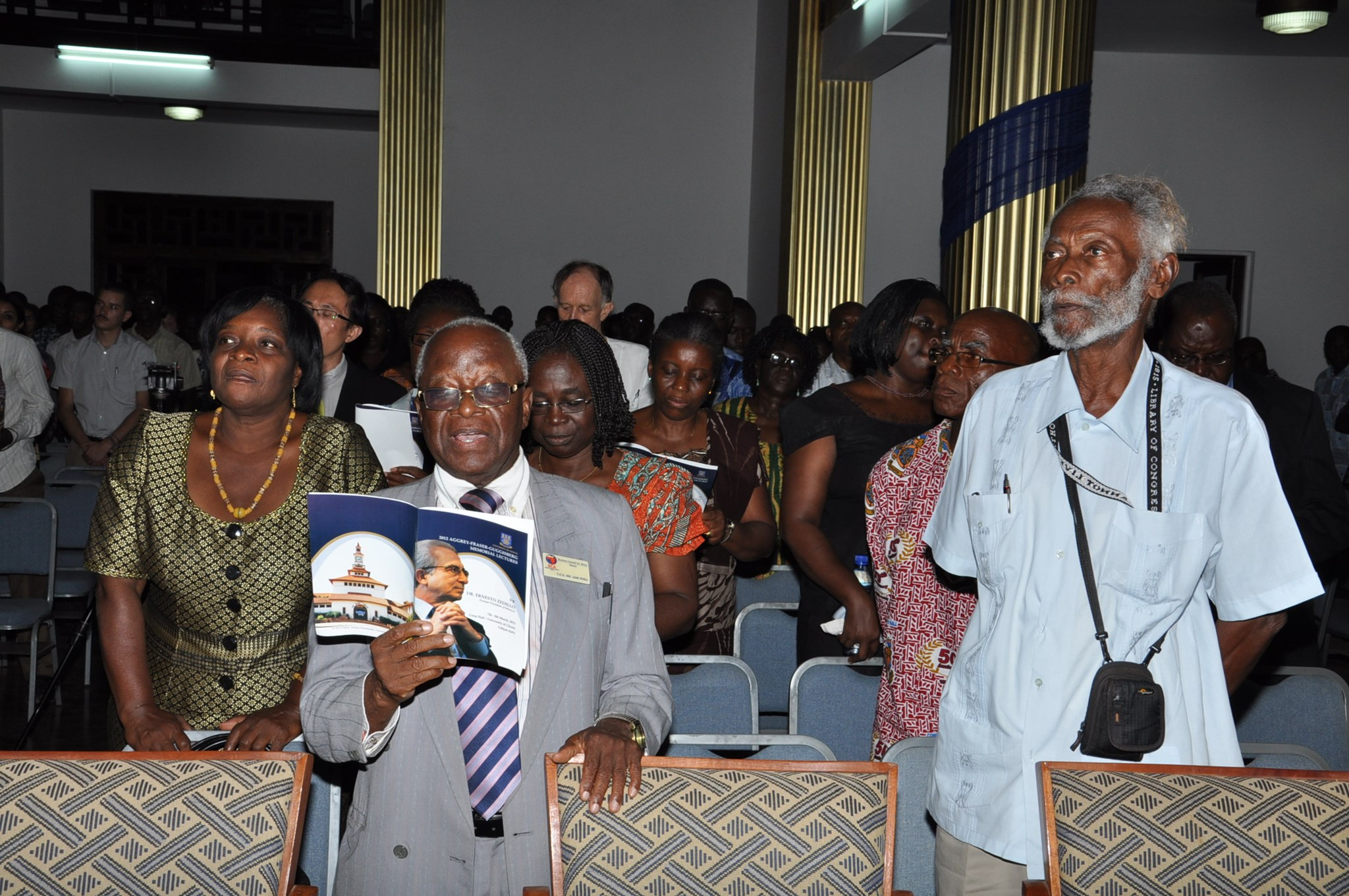 At the Aggrey Fraser Guggisberg Memorial Lecture 2012 (Photo courtesy Stella Amoa)