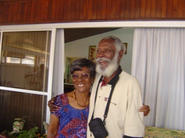 Uncle Yosi and Auntie Mildred.  Photo Courtesy Afua Hunter (nee Laing)