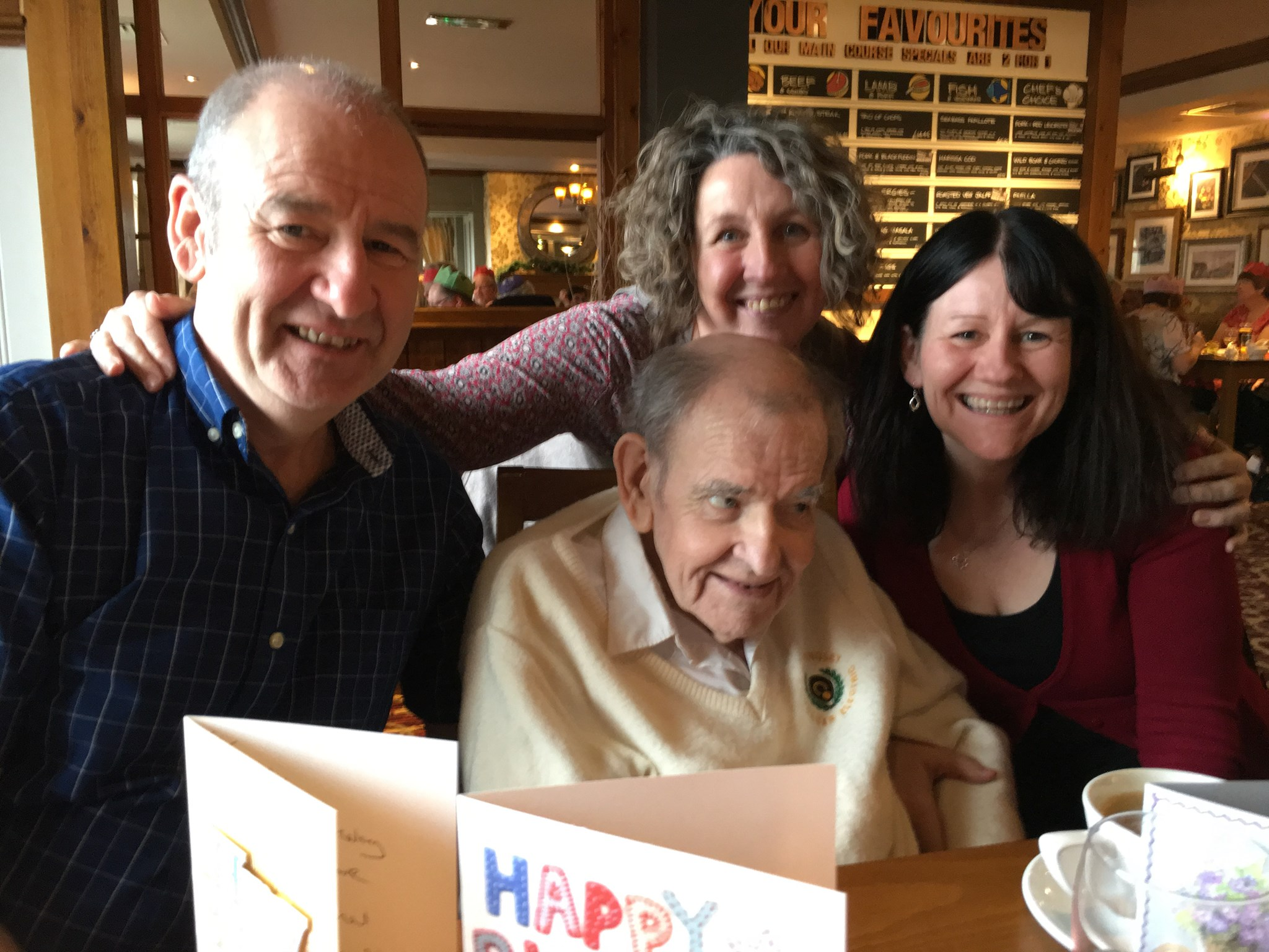 79th birthday lunch - with Mark, Ree & Pat