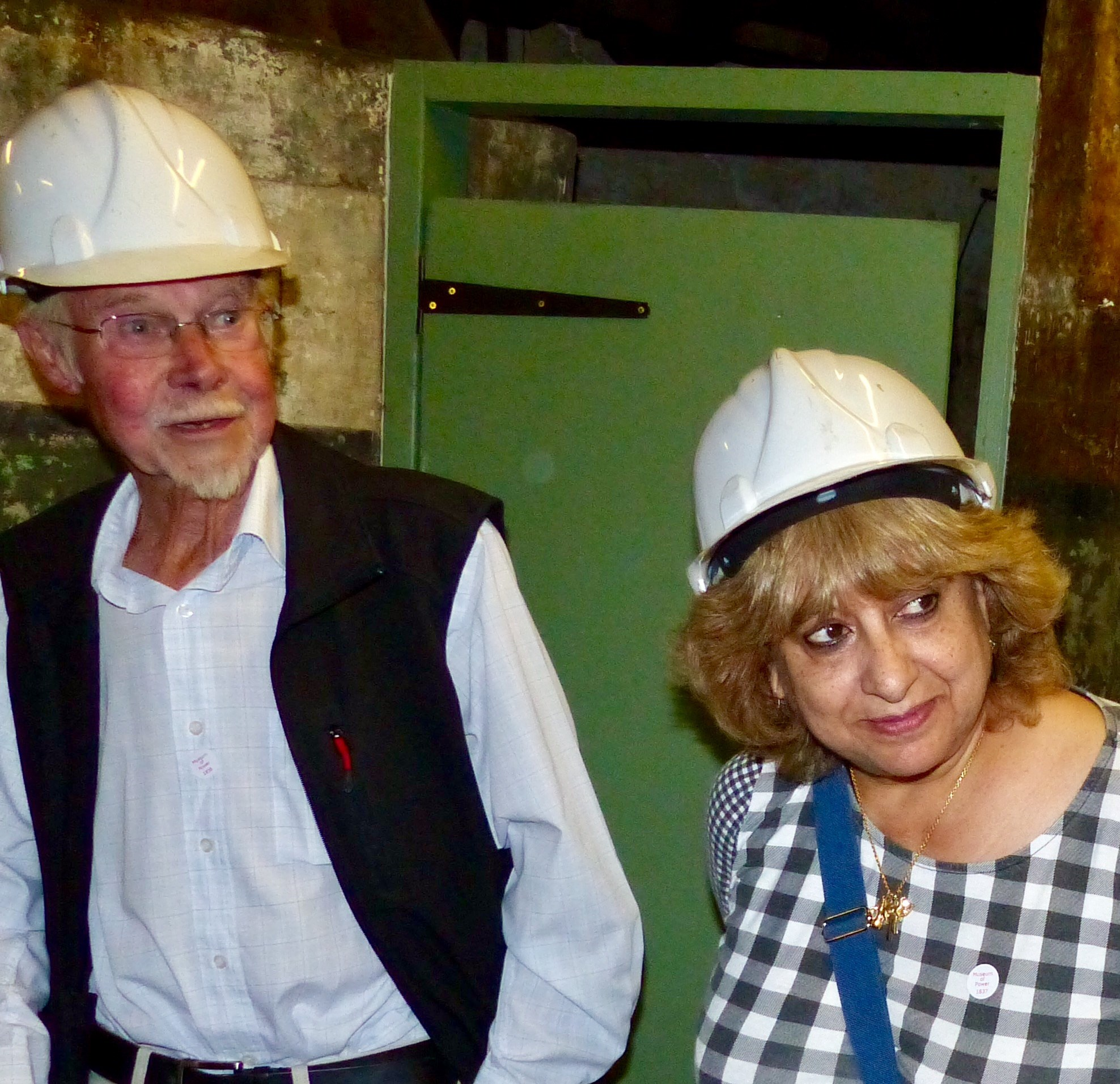 Hard Hats on- Cheshire Park residents visiting!