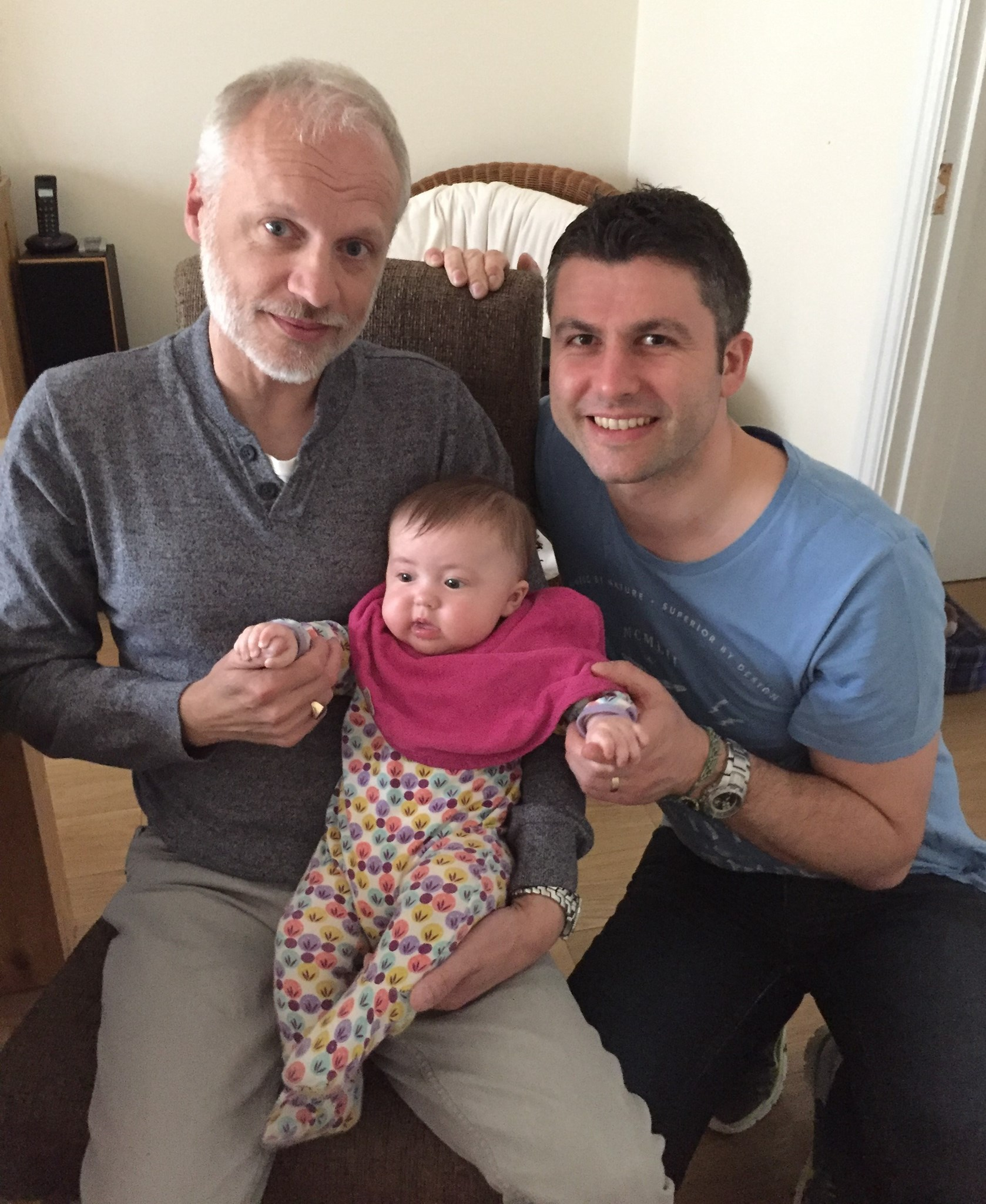 Mark with Alyssia and James