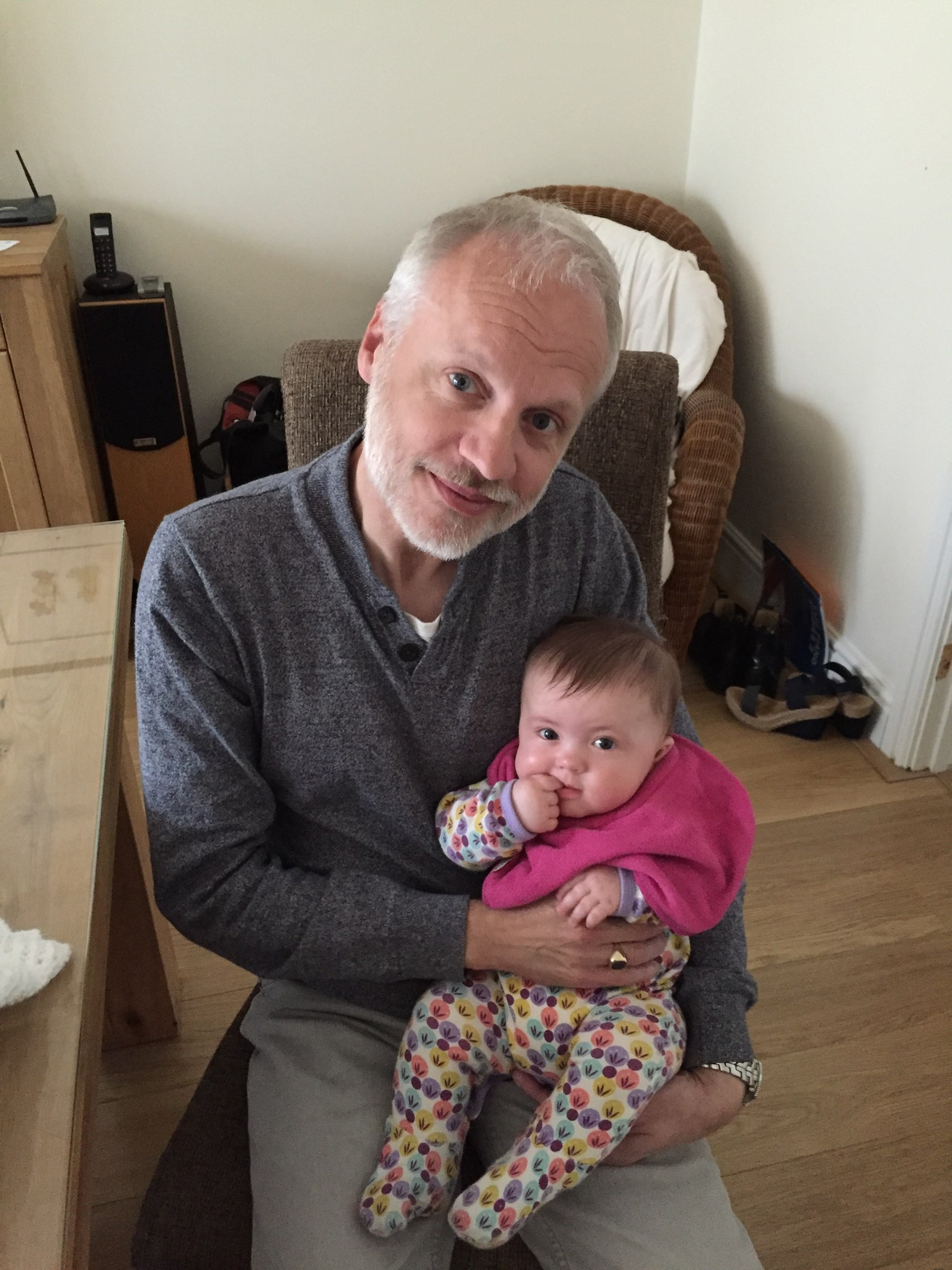 Mark with Alyssia as a baby