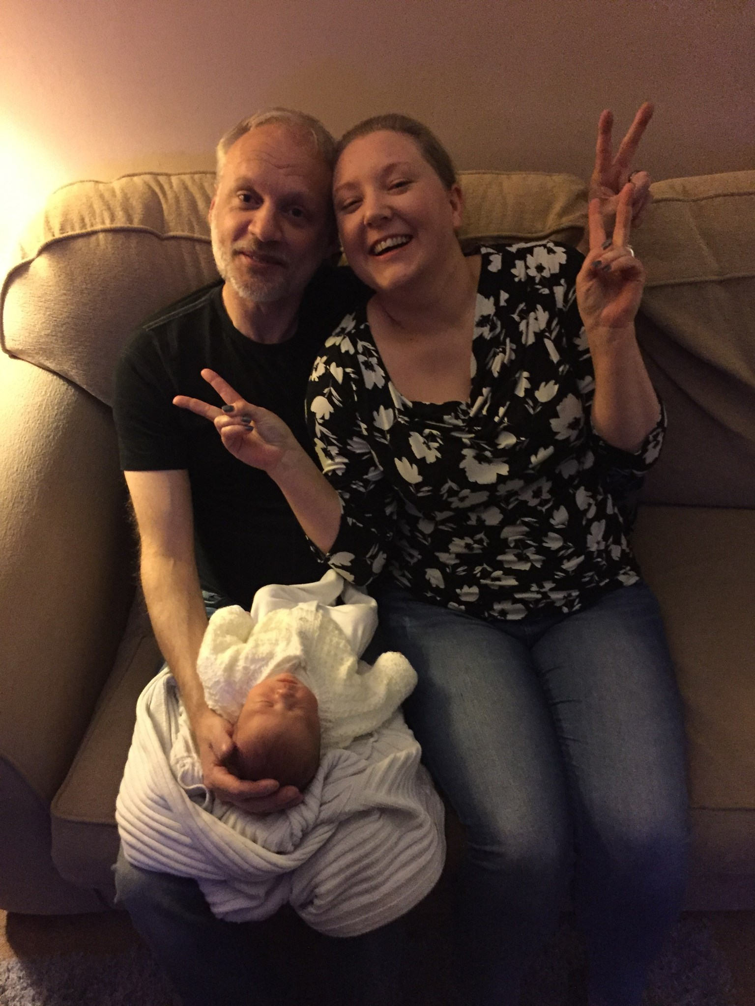 Mark and Laura with baby Alyssia - only a few days old!
