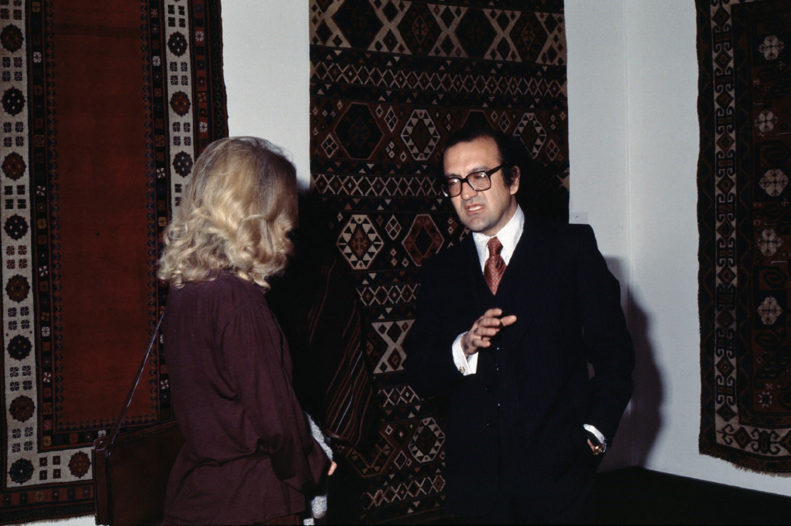 1979 - Reza in Seattle, WA at an exhibition of Islamic carpets