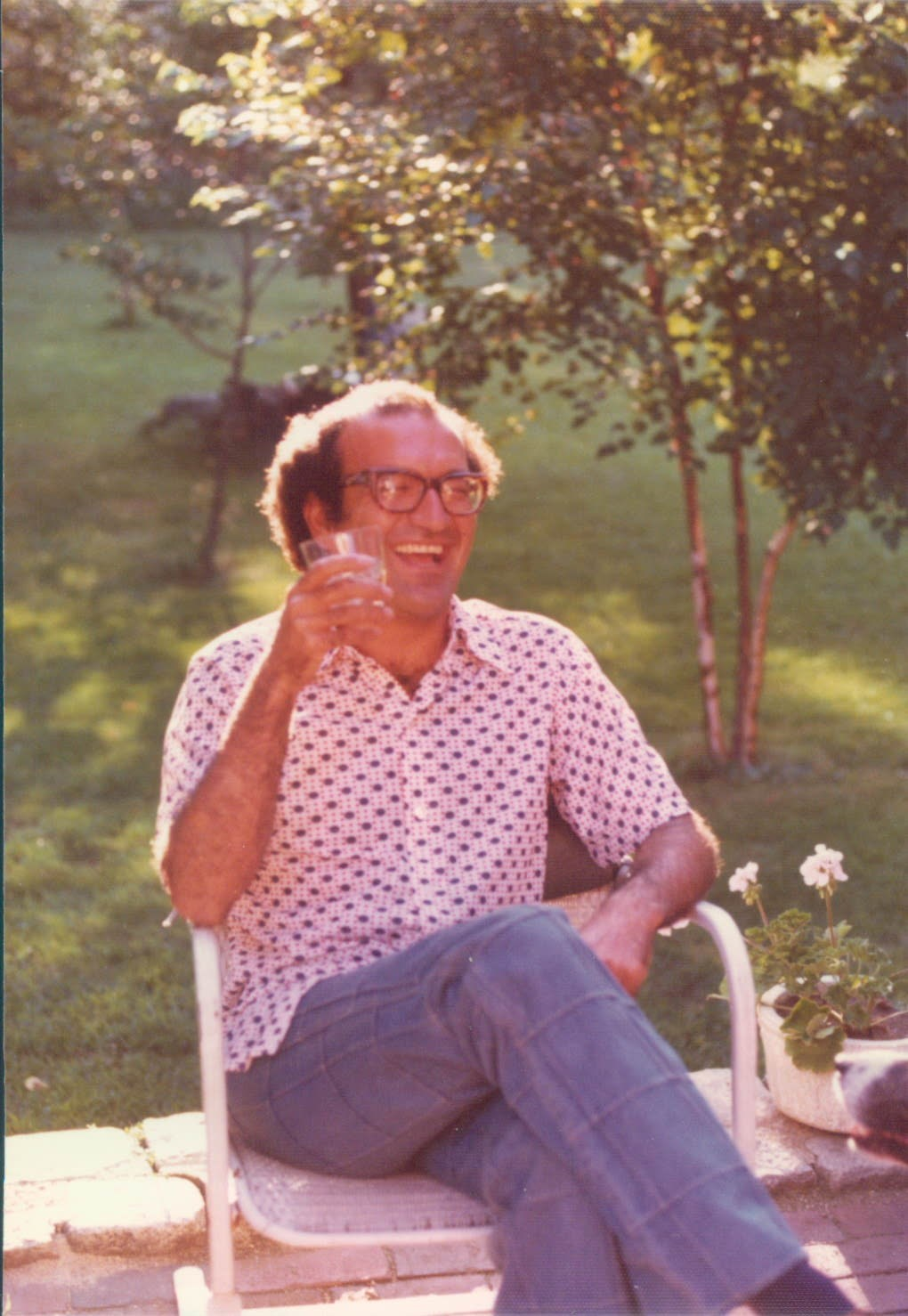 Rezahas a good laugh, Weston, Mass, 1973