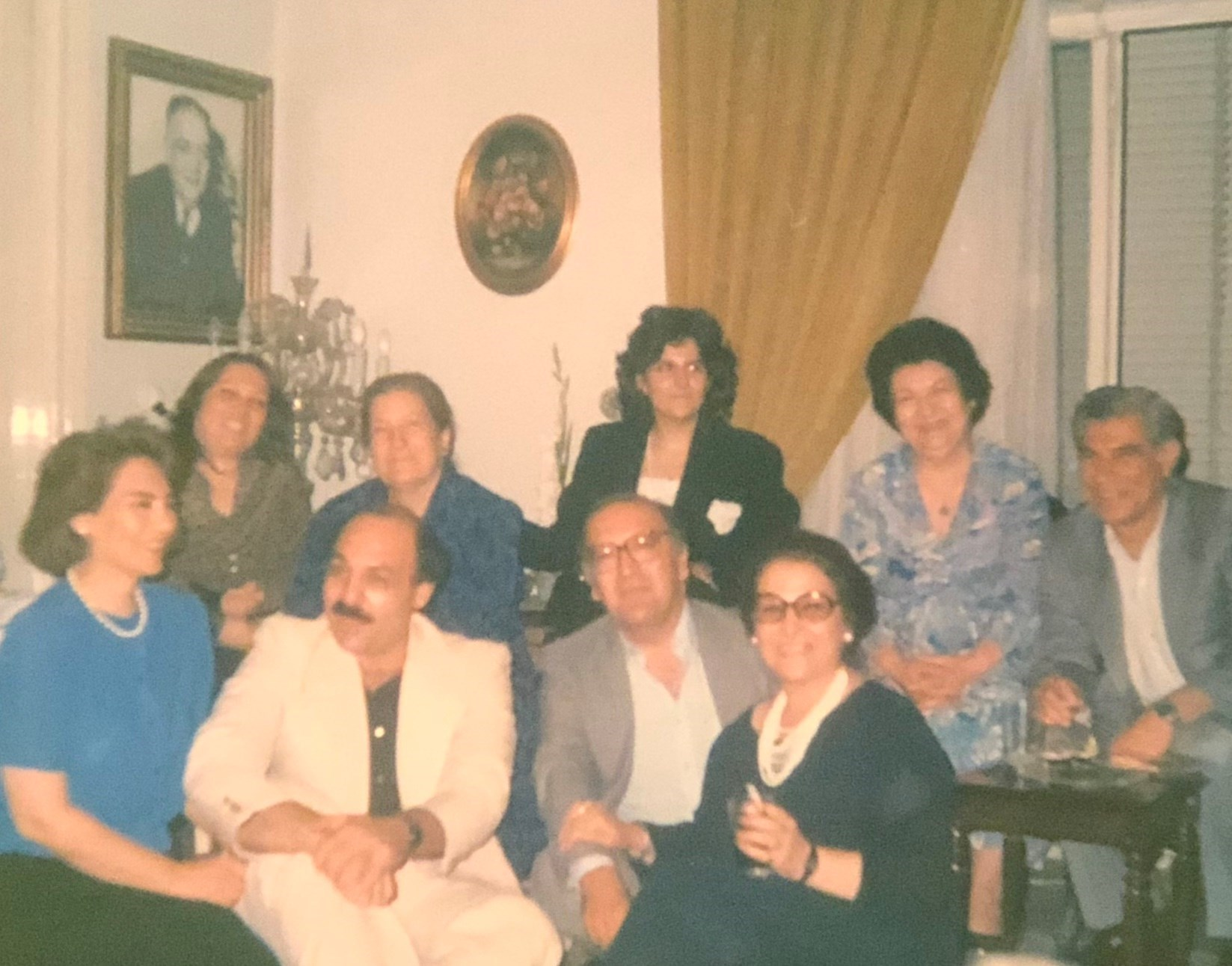 With family in Tehran.