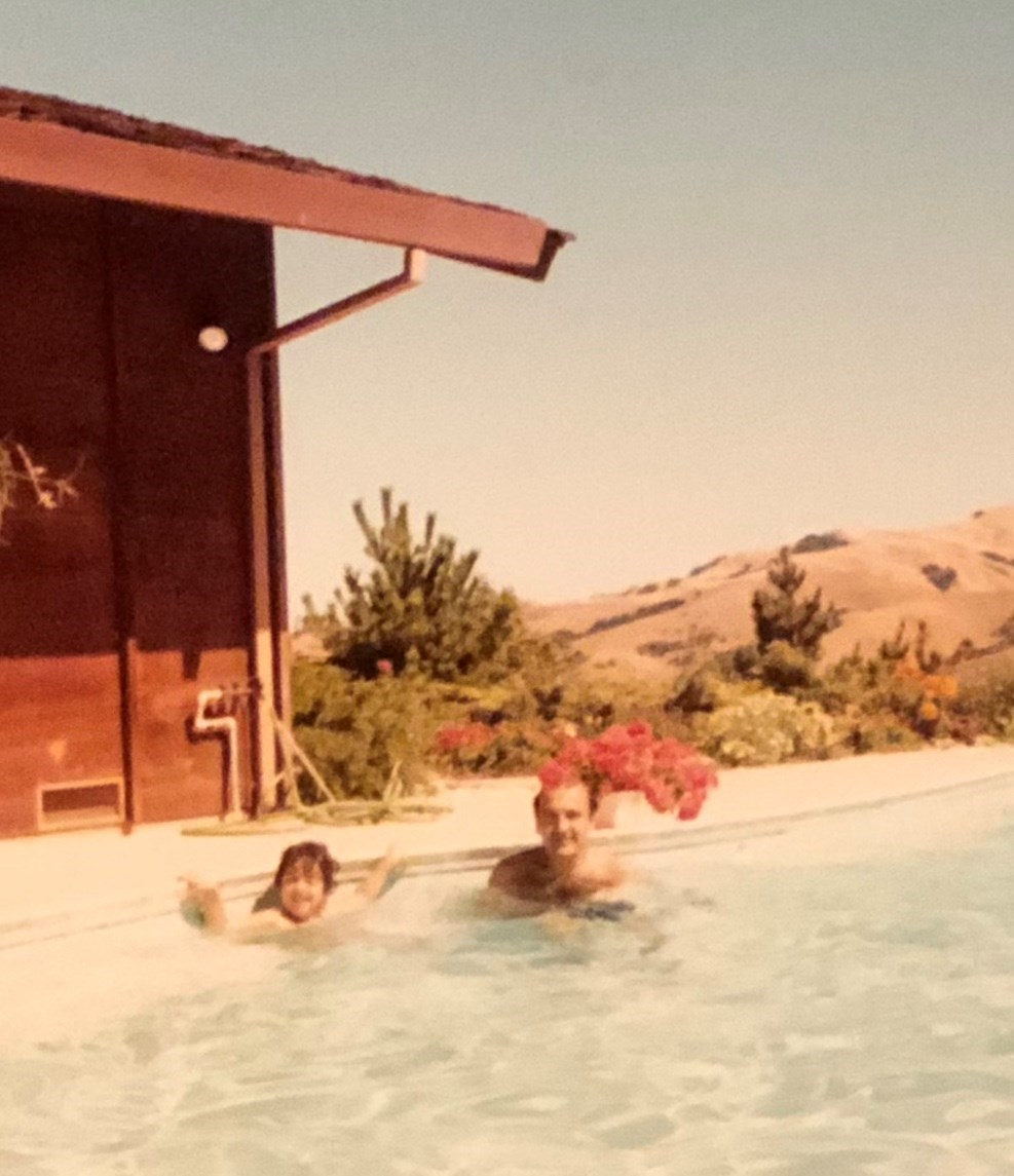 Swim lesson with Zarzar-Moraga, Ca, Early 1980s.