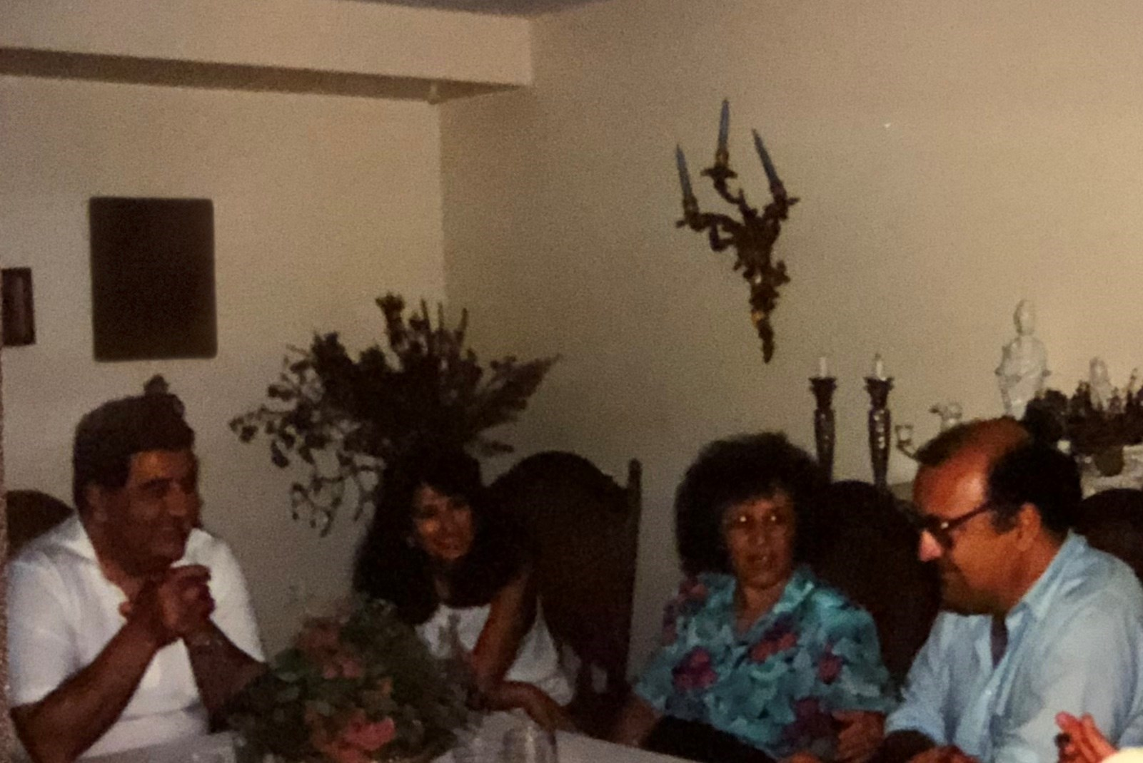 With family. Lincoln, Ma. 1990s.