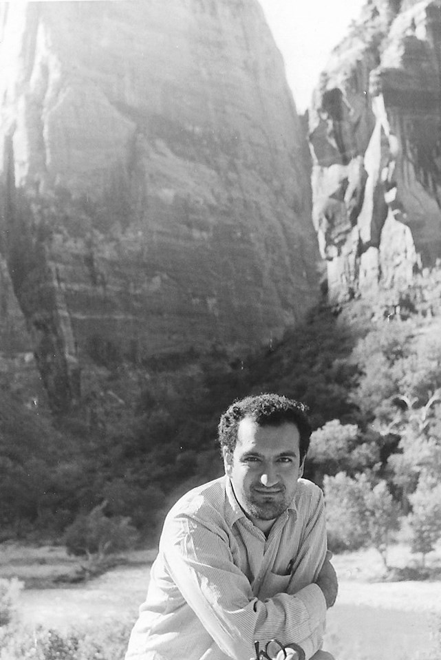 Reza at Zion National Park in Utah. September 1968.