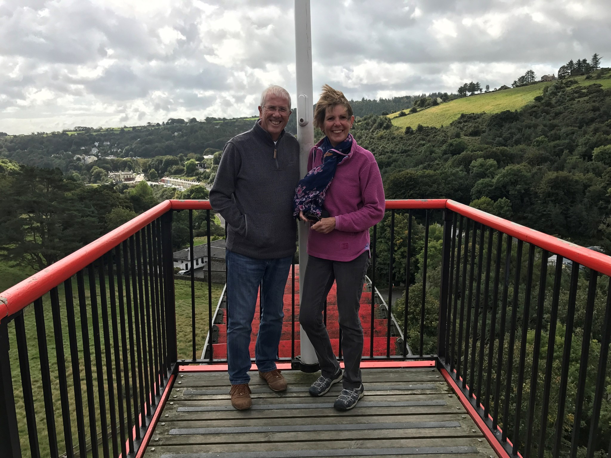This was taken at the Laxey Wheel we had a great weekend, thanks for the memory Carole. Xx