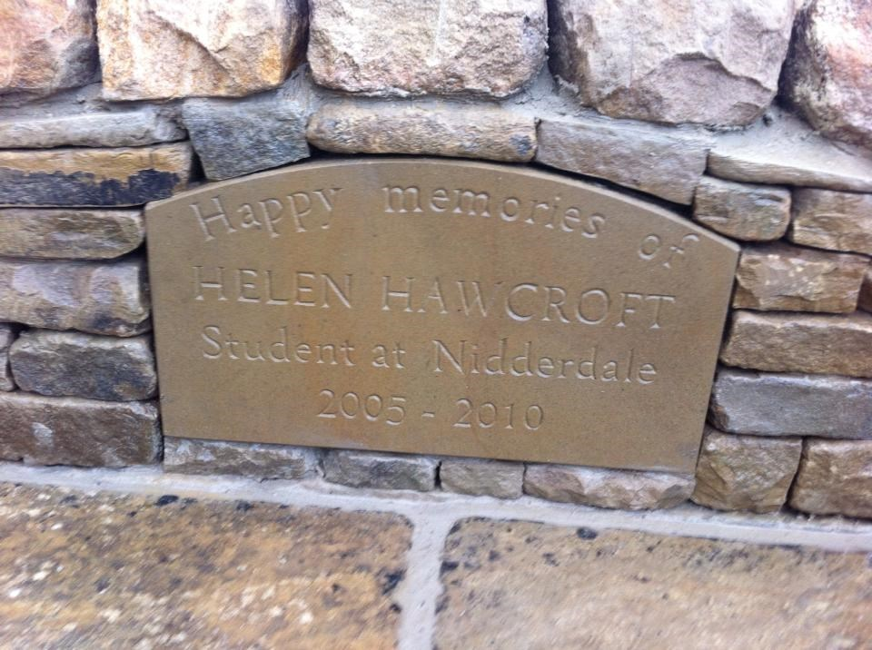 Bench in memory of Helen at Nidderdale High School