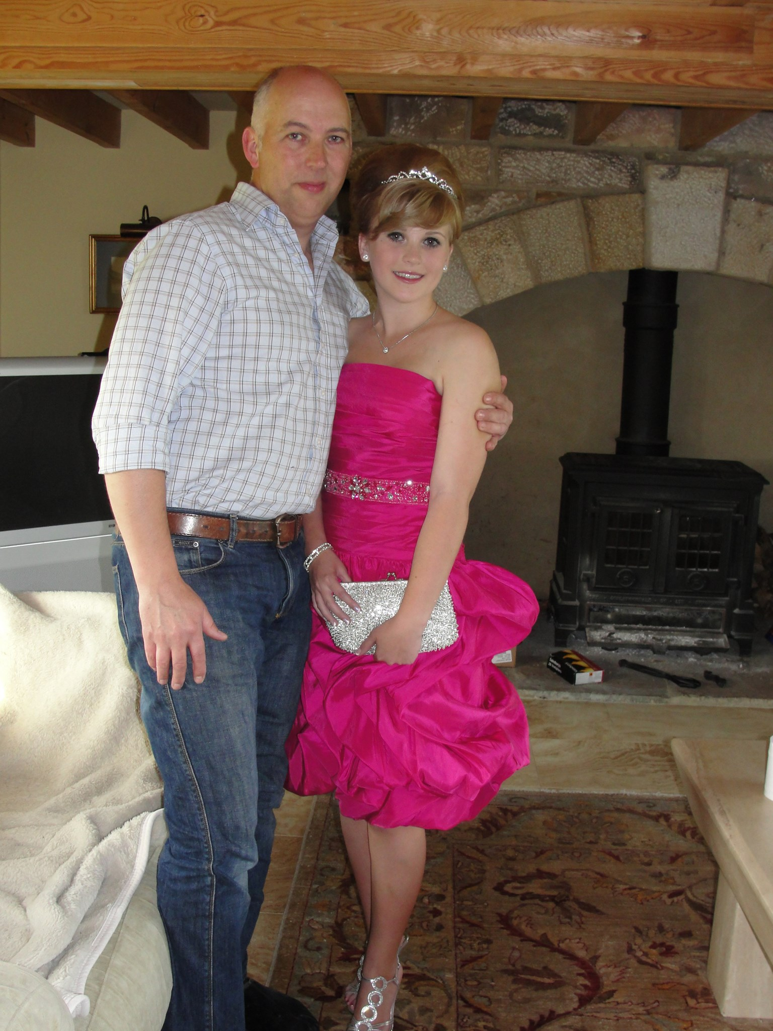 Helen and her dad prom night