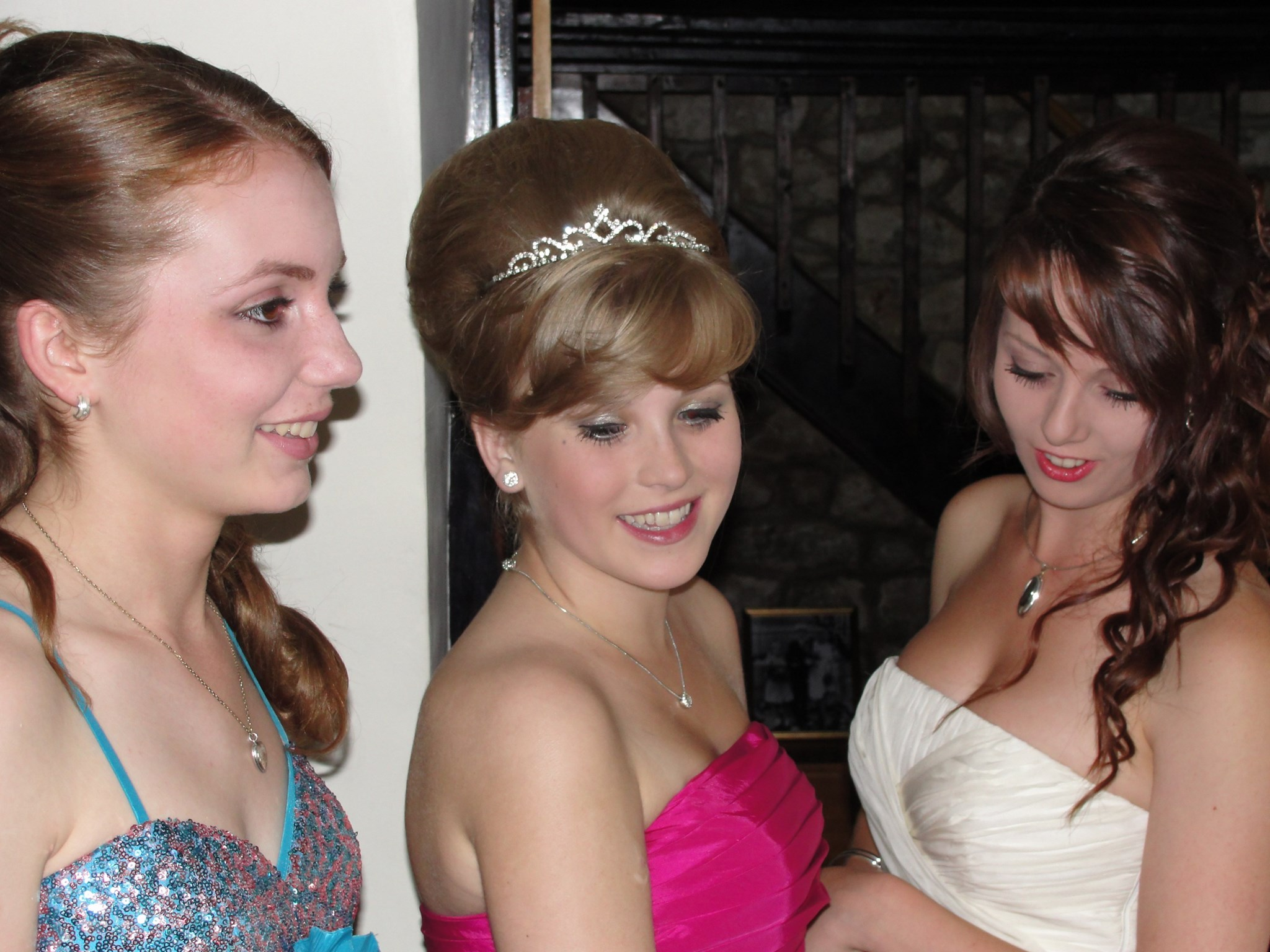Helen with friends prom night