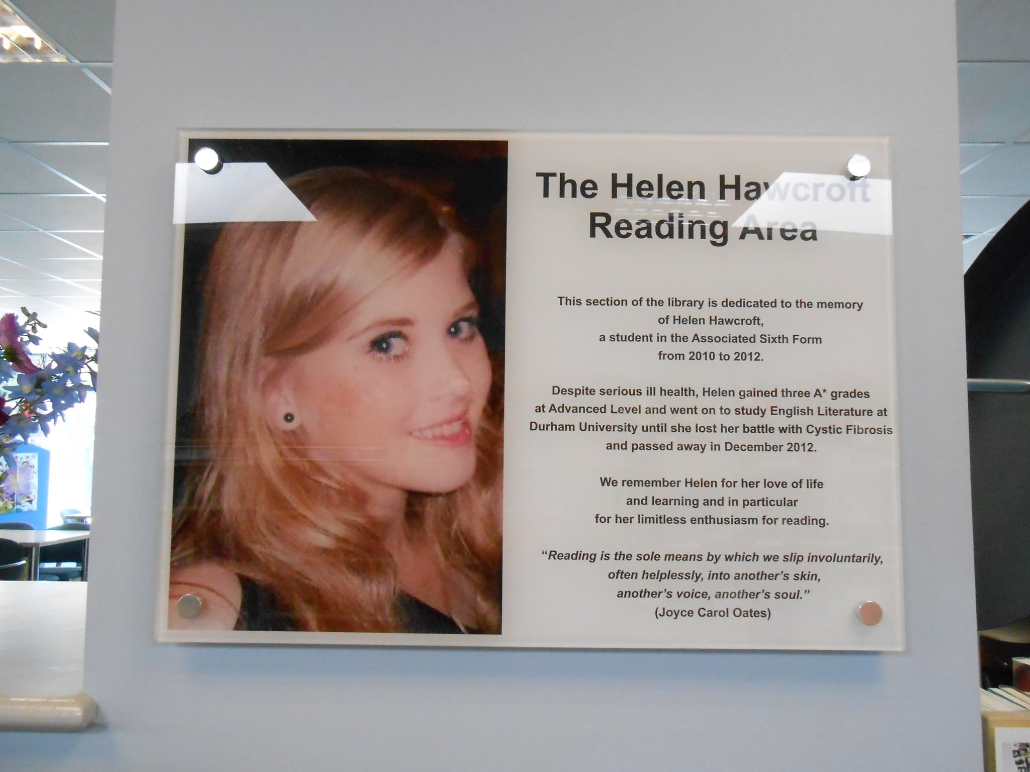 St Aidan's Harrogate memorial to Helen