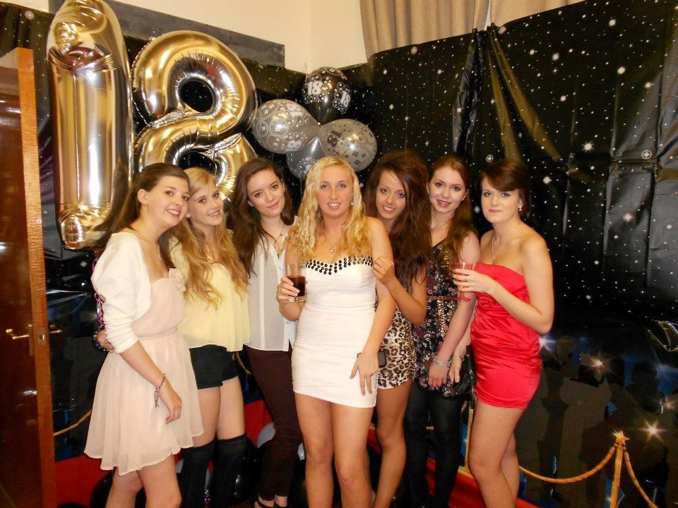 Helen and friends, Emmas 18th...
