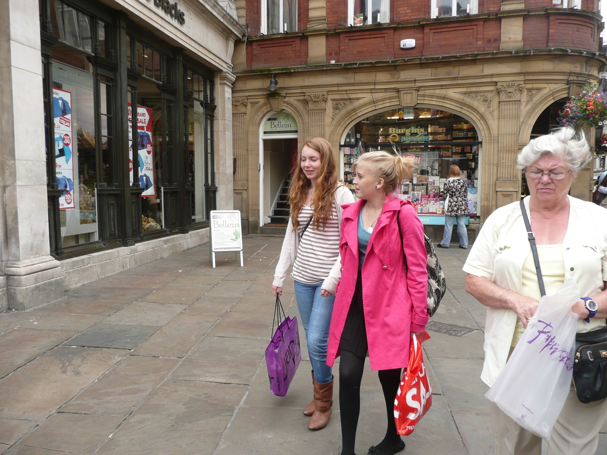 Helen and Julia shopping in York