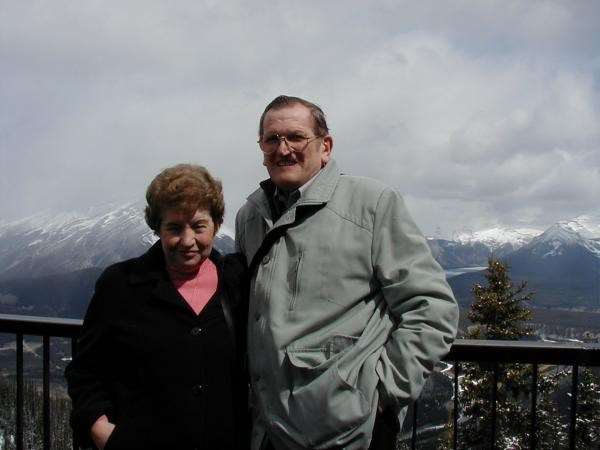 2001 - At the top of Sulphur Mountain, Banff, Canada.