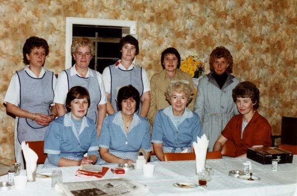 1975 - With the girls at Birch Hill, Ann is on the right.