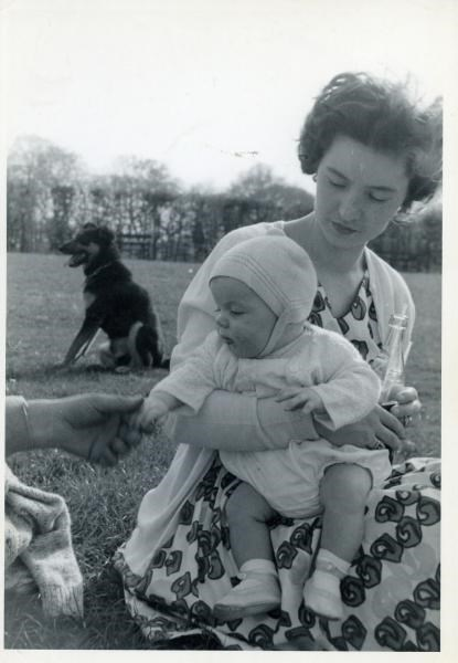 1966 - With son David.