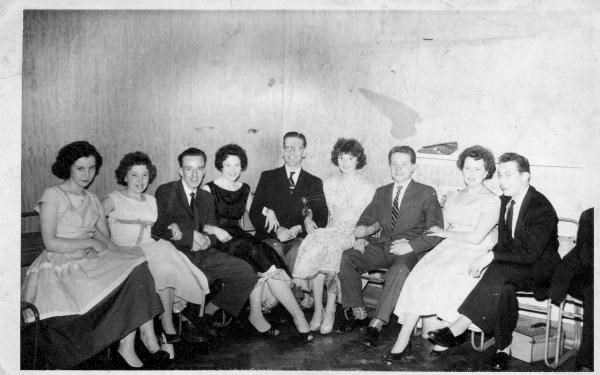 1960 - The Finnigans School of Dancing group, Ann is on the left.