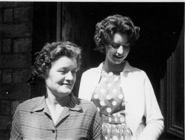 1959 - As a teenager with mother Alice.