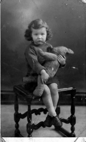 1943 - With Teddy.