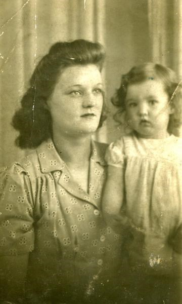 1943 - With mother Alice.