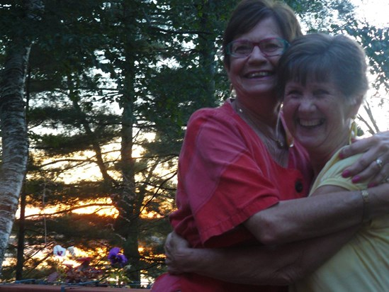 Mom and Jessie at the cabin (from Jessie Lazeroff)