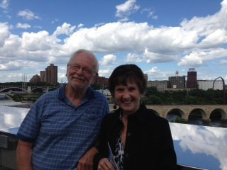 Mom and Dad at the Guthrie Theater on Mom's birthday, 8/4/2013