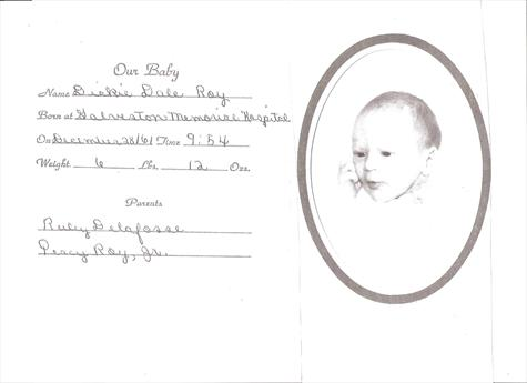 Dickie's Birth Announcement