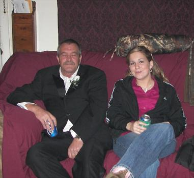 daddio and tubs( couldn't keep his eyes open dunno if he was drunk or tired after my wedding)