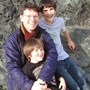 Dad, Huw, and Ollie, 2009