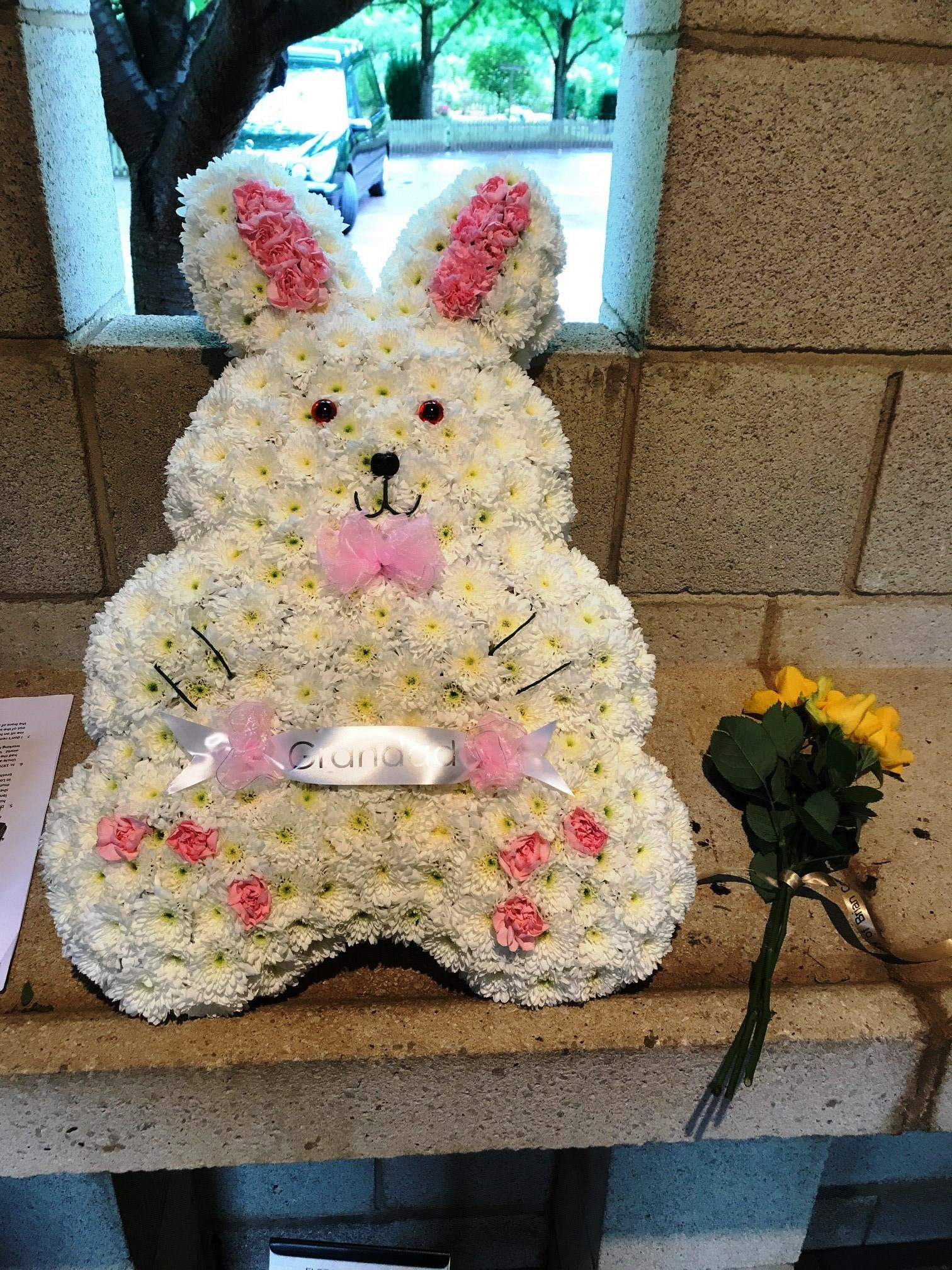 Floral tribute for Brian Collins