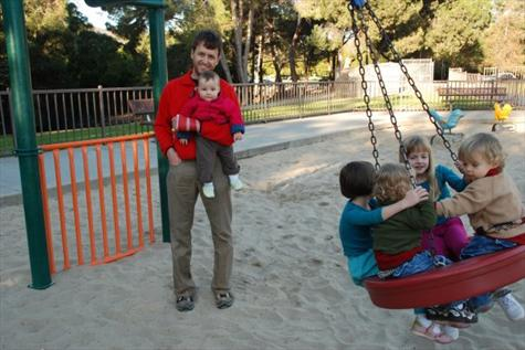 Uncle David...His Girls and Nephews at the Park
