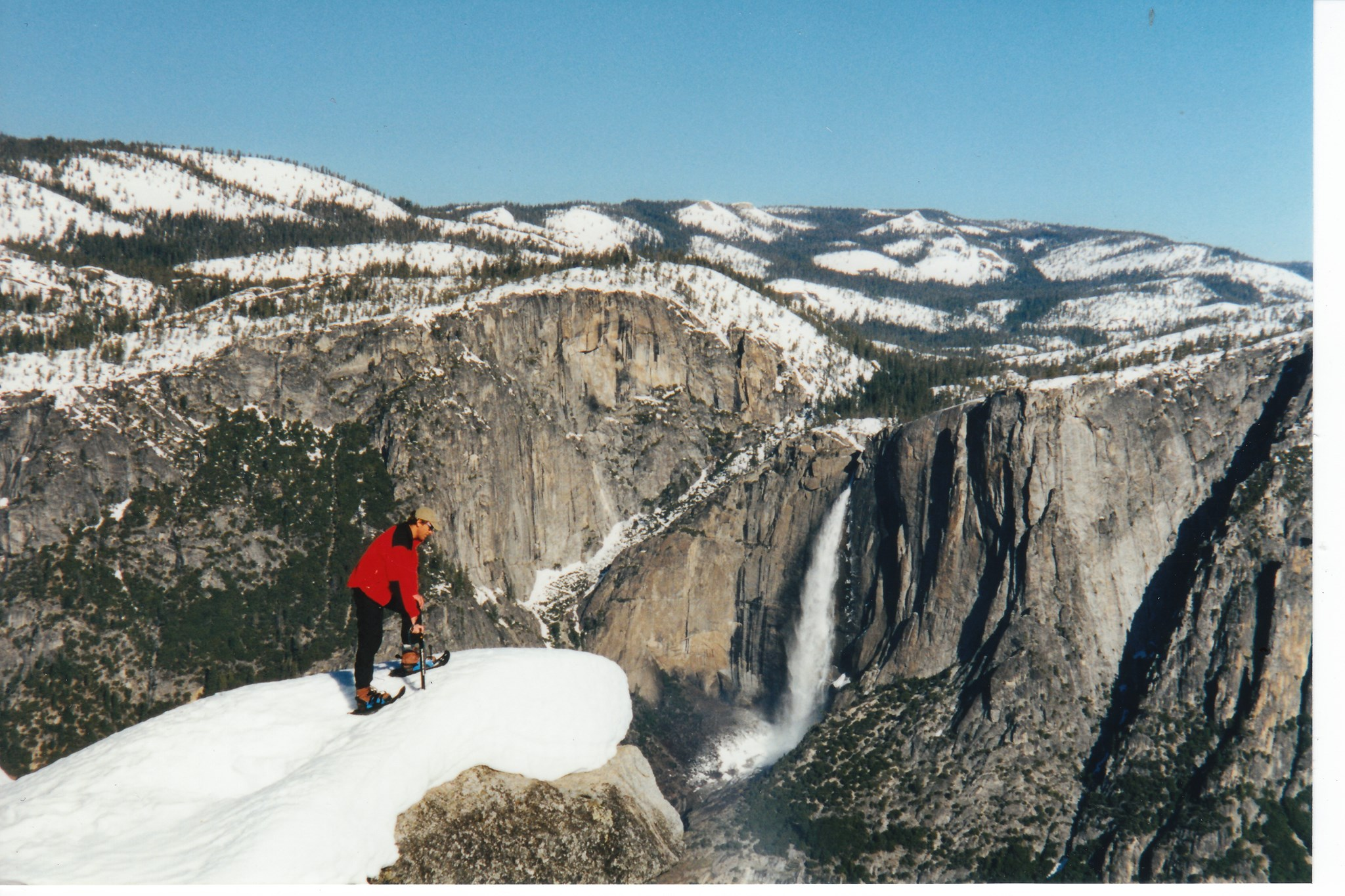 At Glacier Pt looking over Yosemite Falls, March 1998