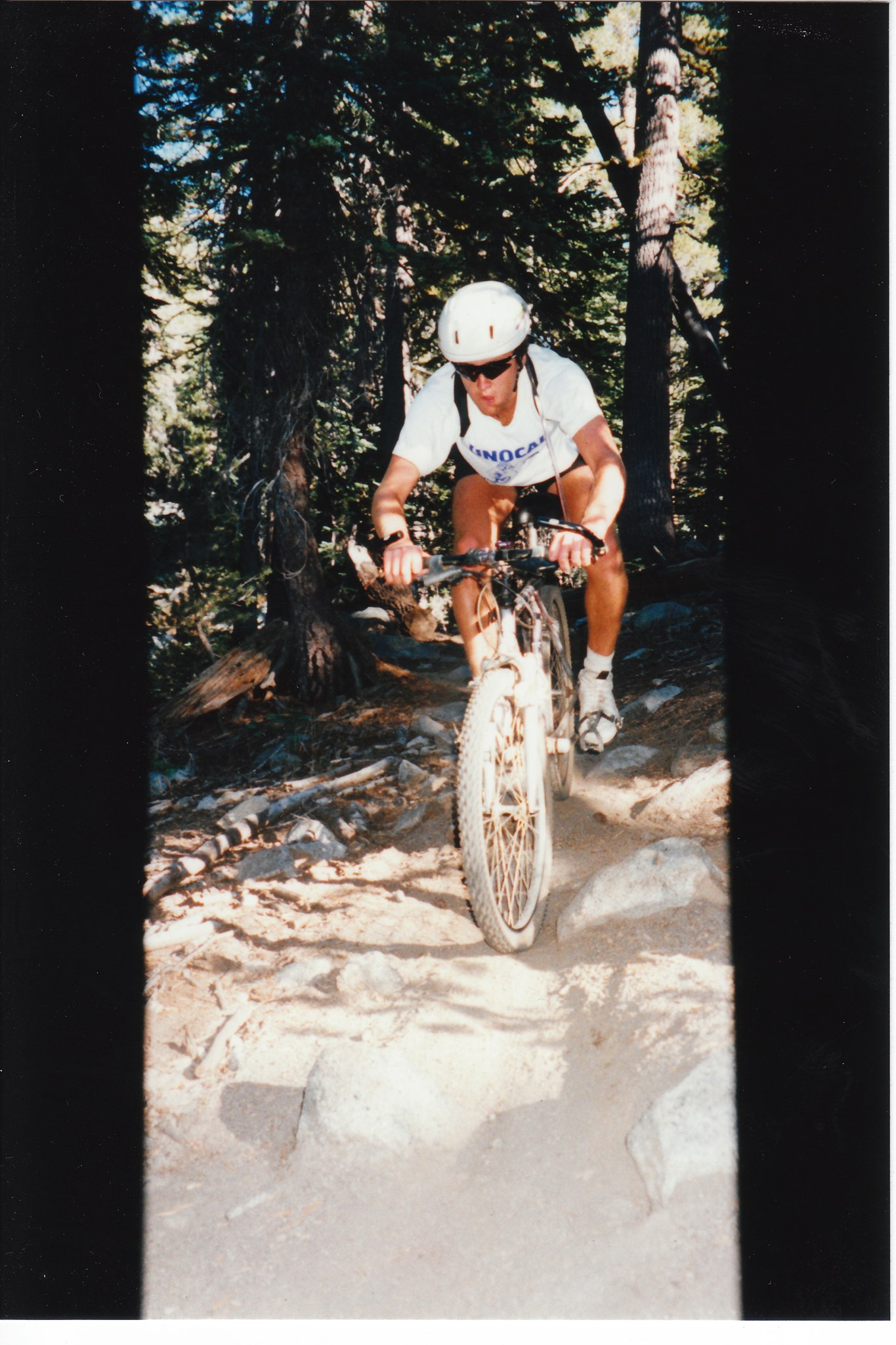 "Dave crushing ""Mr Toad's Wild Ride"" in Tahoe"