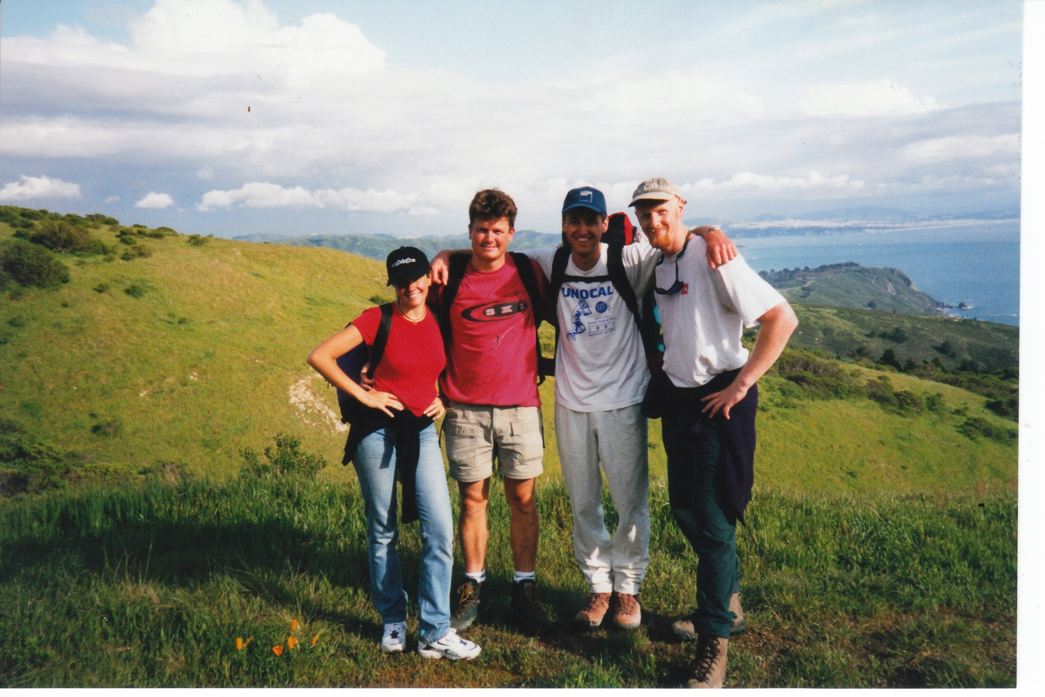 With Maria, Pete & Tim, Mt Tam April 1998