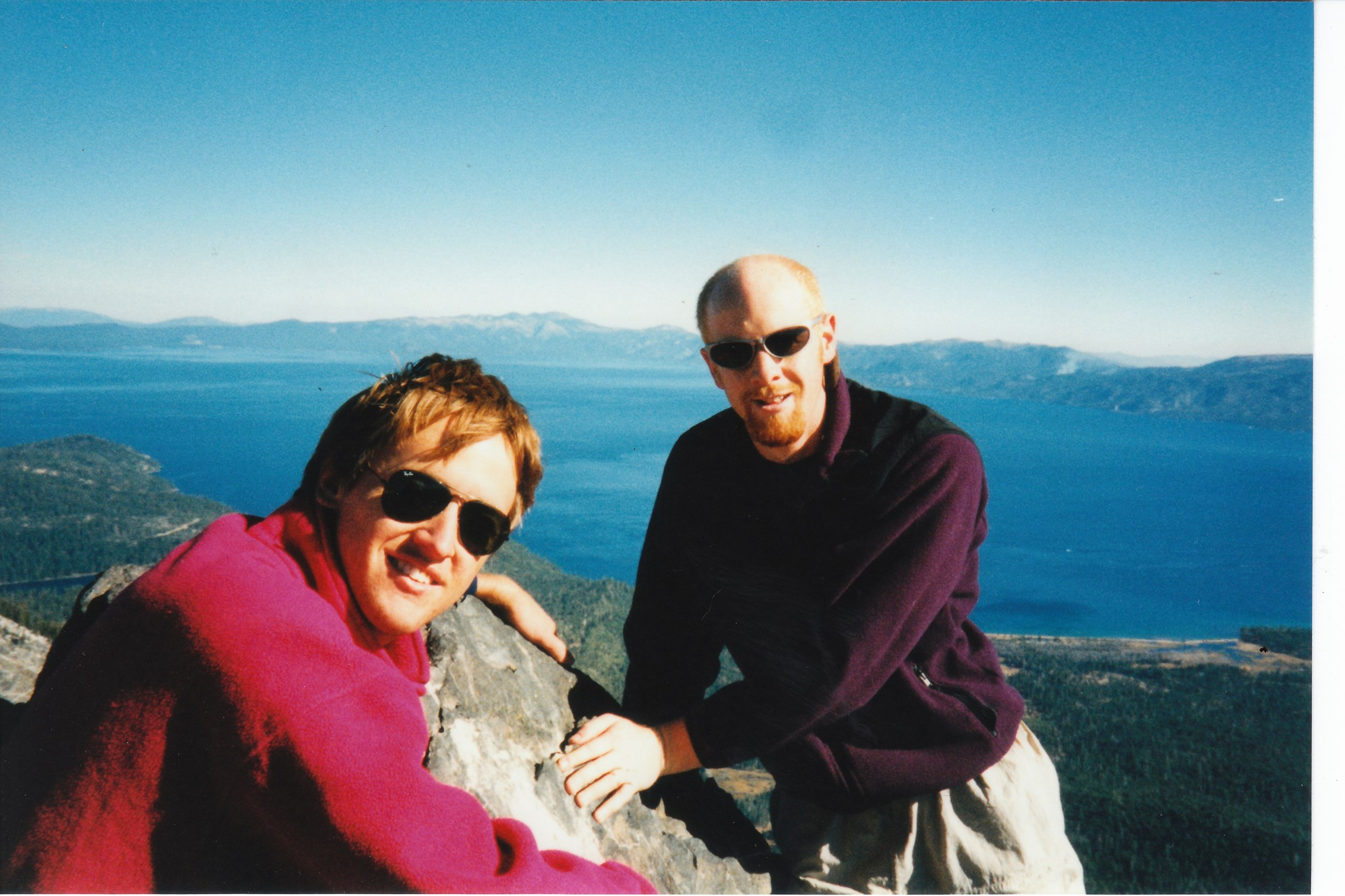 On top of Mt Tallac, Tahoe 1997