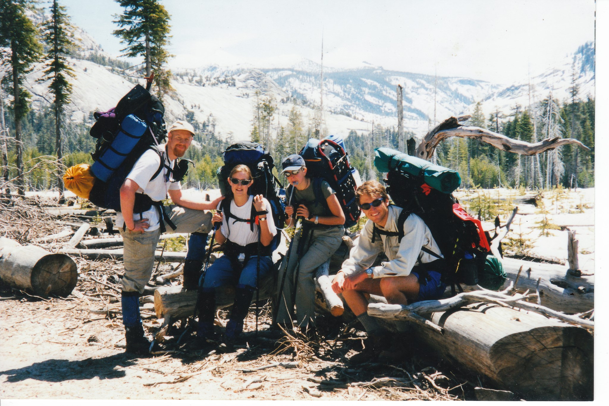 Dave with Tim, Catherine & Maria - Yosemite May 98