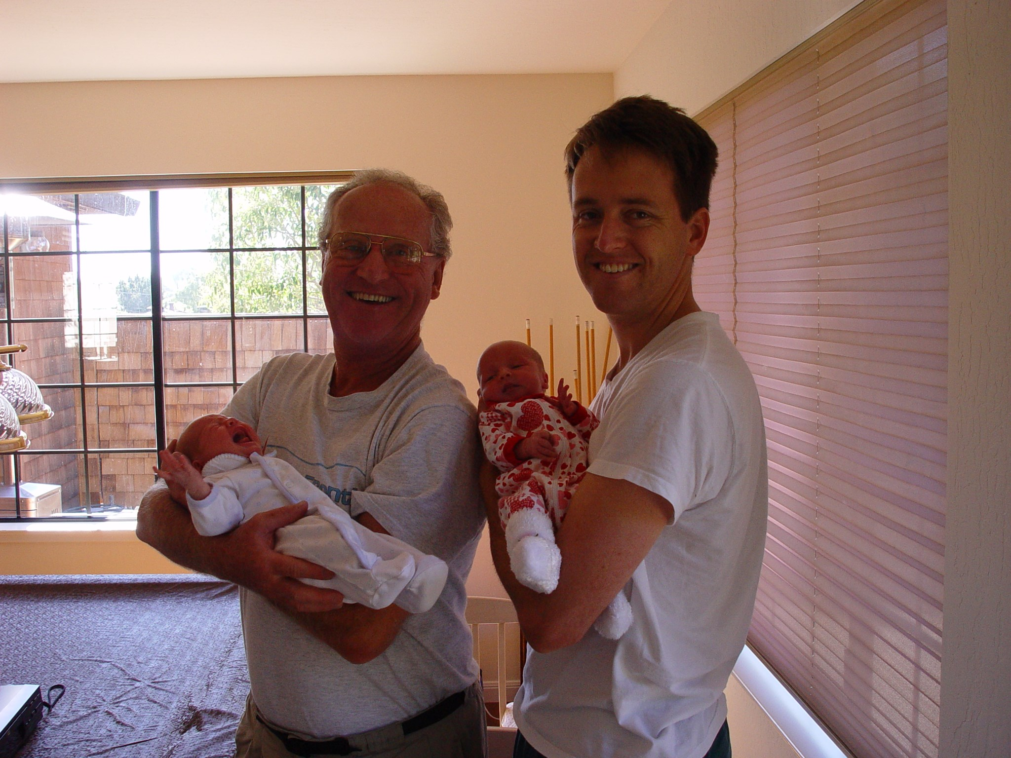 David and Petr with new born twins