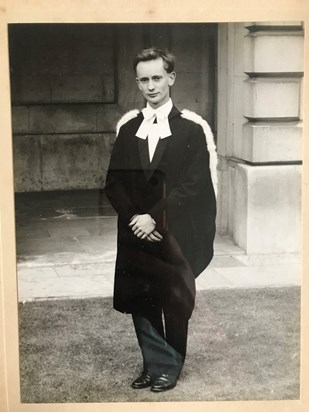 Mike graduating from Cambridge (63?)