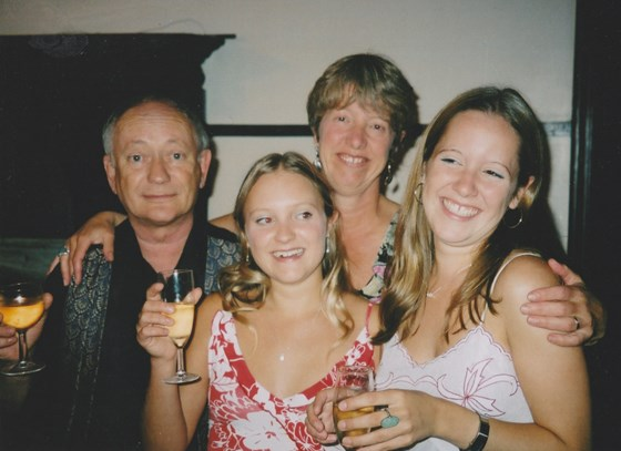 Family celebration with Rosemary, Kate and Penny in Southover Grange, Summer 2002