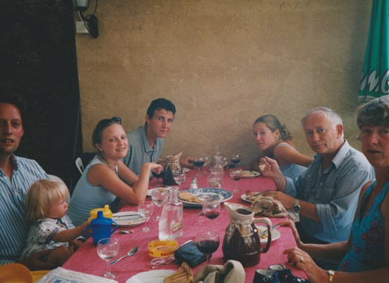 Cindy, Kirsty and I joined Mike and family (and Jack!) on holiday in the Dordogne, summer 1999